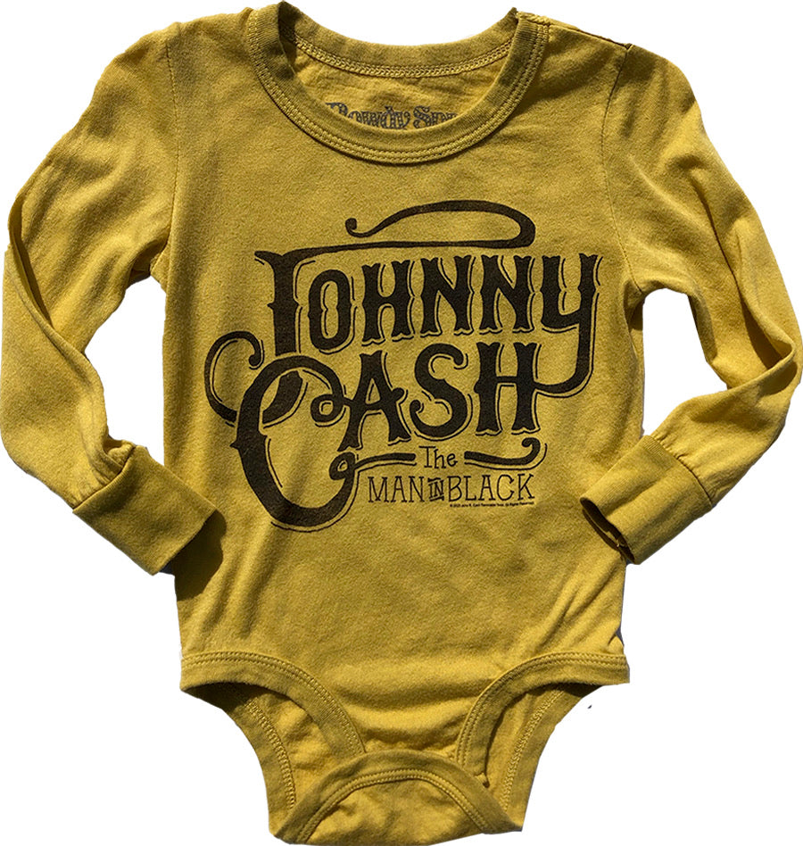 Johnny Cash Long Sleeve Onesie