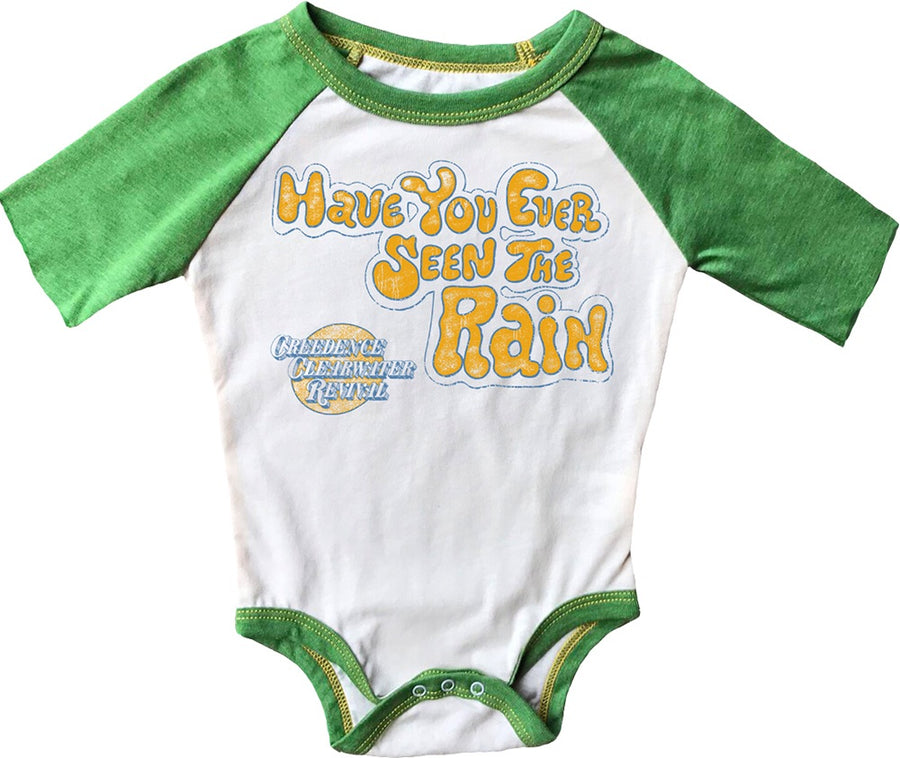 Seen The Rain Short Sleeve Raglan Onesie
