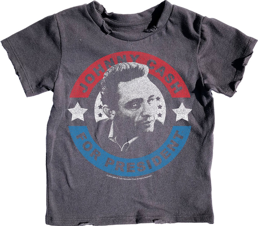 Johnny Cash For President Simple Tee