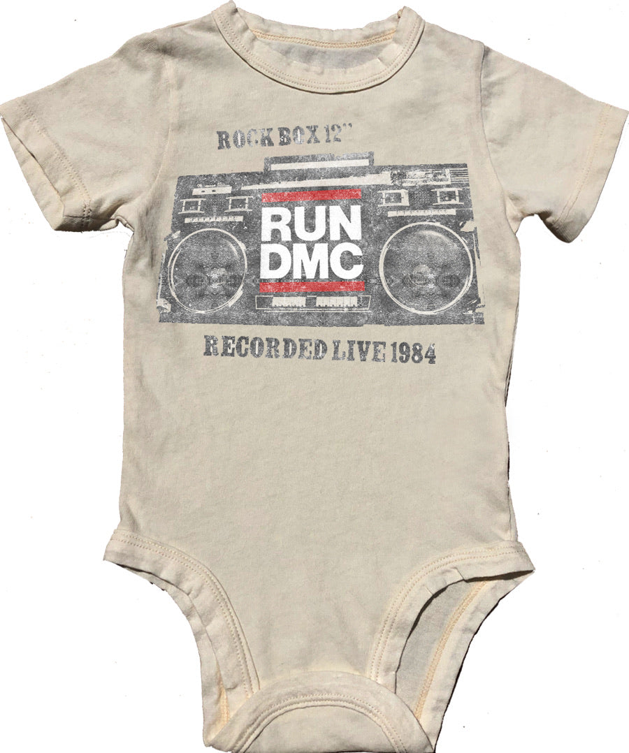 Run DMC Simple Short Sleeve Onesie
