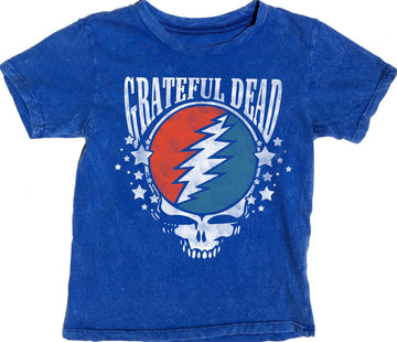 Grateful Dead Short Sleeve Simple Tee Blue
