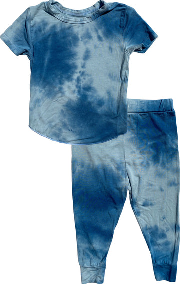 Rebel Tie Dye Blue Short Sleeve Base Layer Set