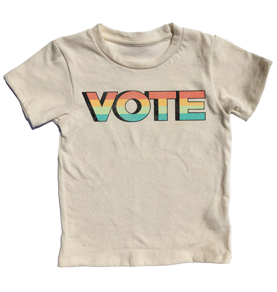 Vote Simple Tee Cream