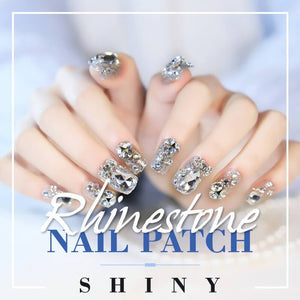 Shiny Rhinestone Nail Patch(24PCS)