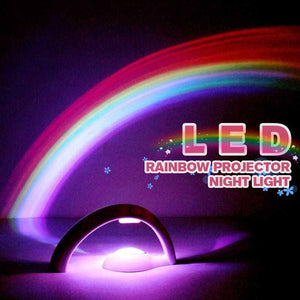 LED Rainbow Projector Night Light