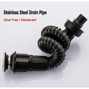Glue-free Stainless Steel Drain Pipe Set