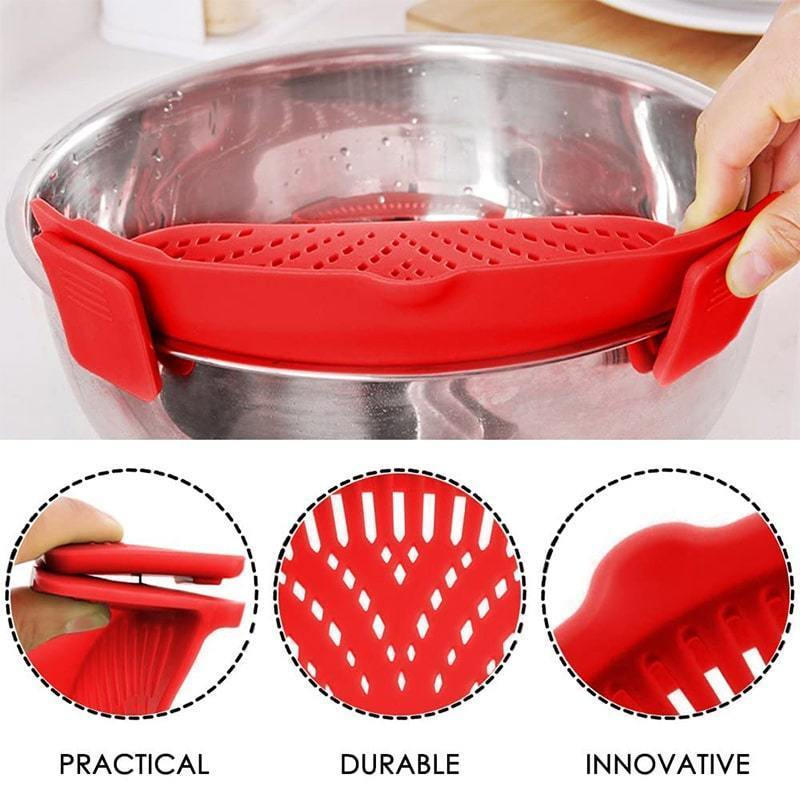 Silicone Pot Side Drainer