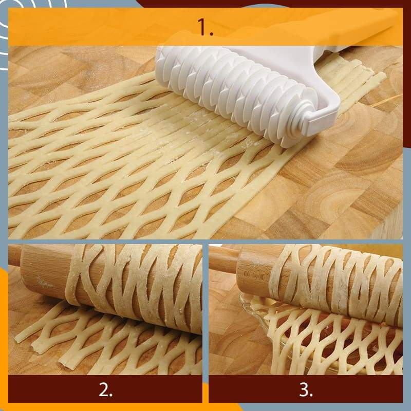 (?Christmas Promotion-50% OFF) Pastry Lattice Roller Cutter