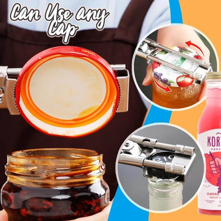 Limited Time Big Sale!!Adjustable Multifunctional Stainless Steel Can Opener