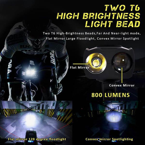 Bycicle Headlights With Electronic Bell