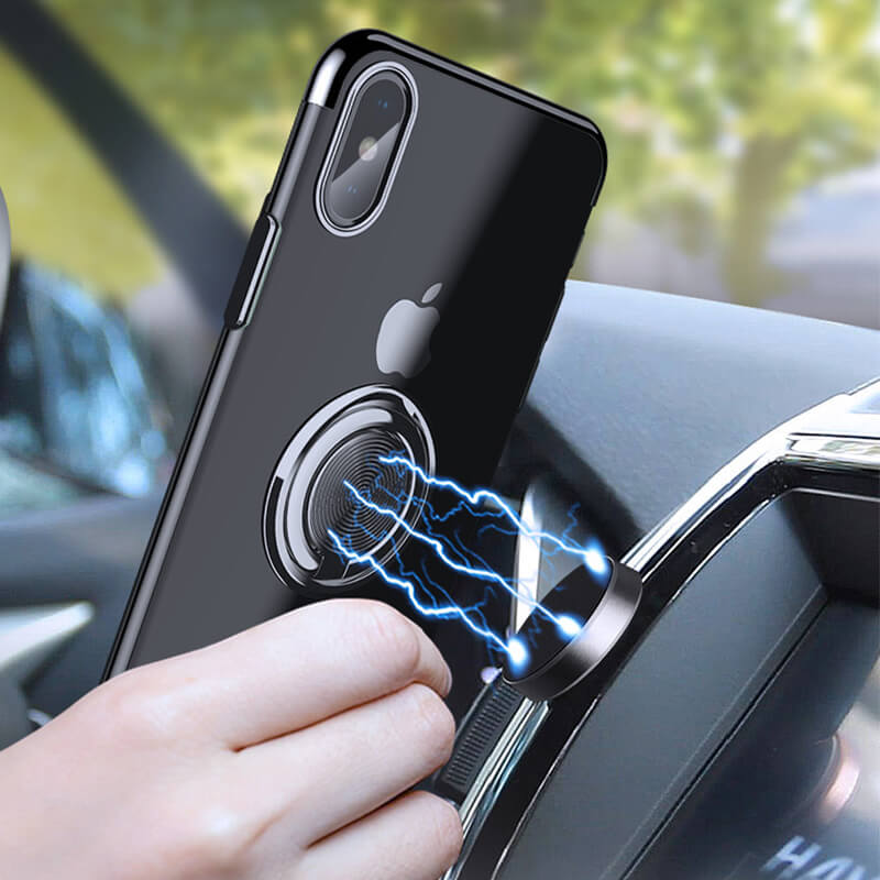 Magnetic Ring Case For iPhone