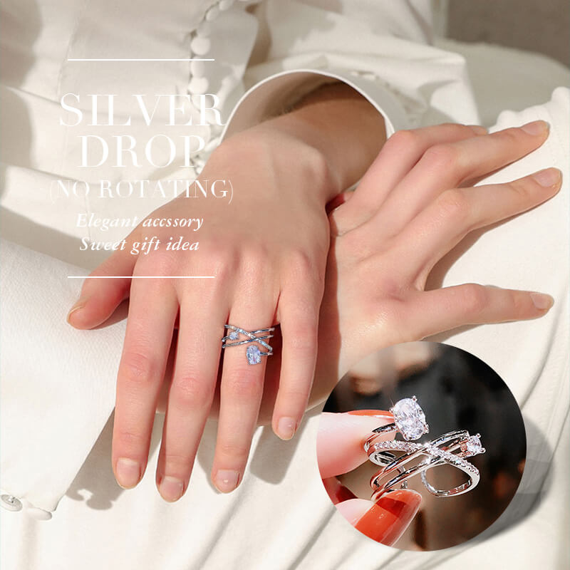 Adjust To Your Size - Elegant Rotating Crystal Ring