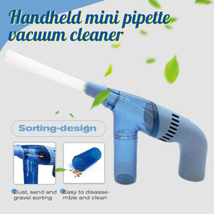 Handheld mini pipette vacuum cleaner