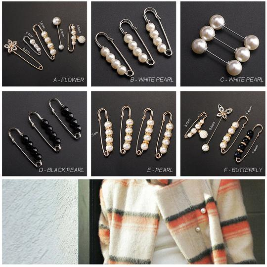 Pearl Brooch Clothing Decoration Clips