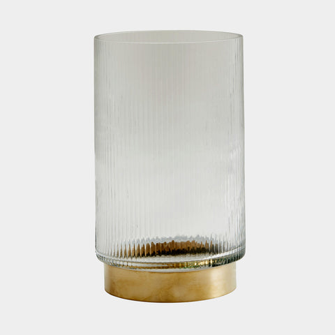 NORDAL Ring Vase / Windlicht gold, L