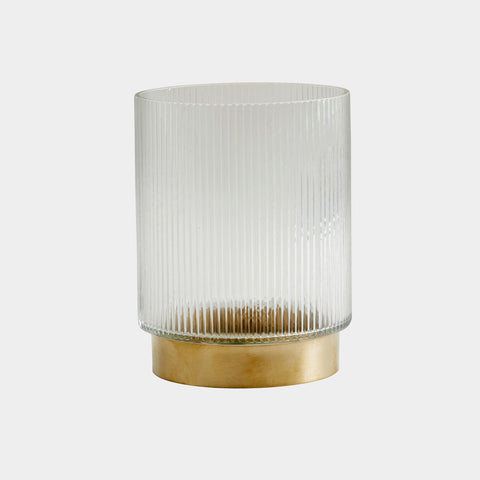 NORDAL Ring Vase / Windlicht gold, S
