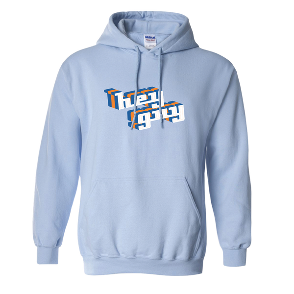 """Hey Guy"" Light Blue Pullover Hoodie"