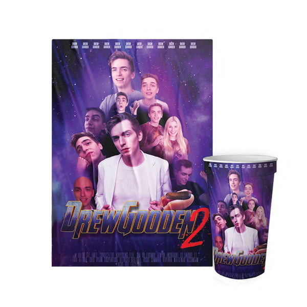 "Drew Gooden ""Drew Gooden 2"" Movie Poster and Cup Bundle *SIGNED*"