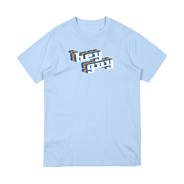 """Hey Guy"" Light Blue tee"