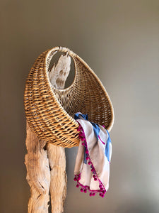 Crescent Wicker basket
