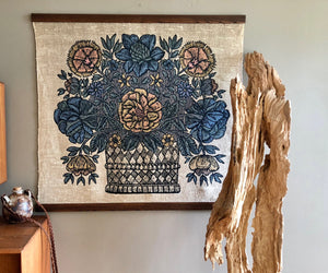 silk screen wall tapestry