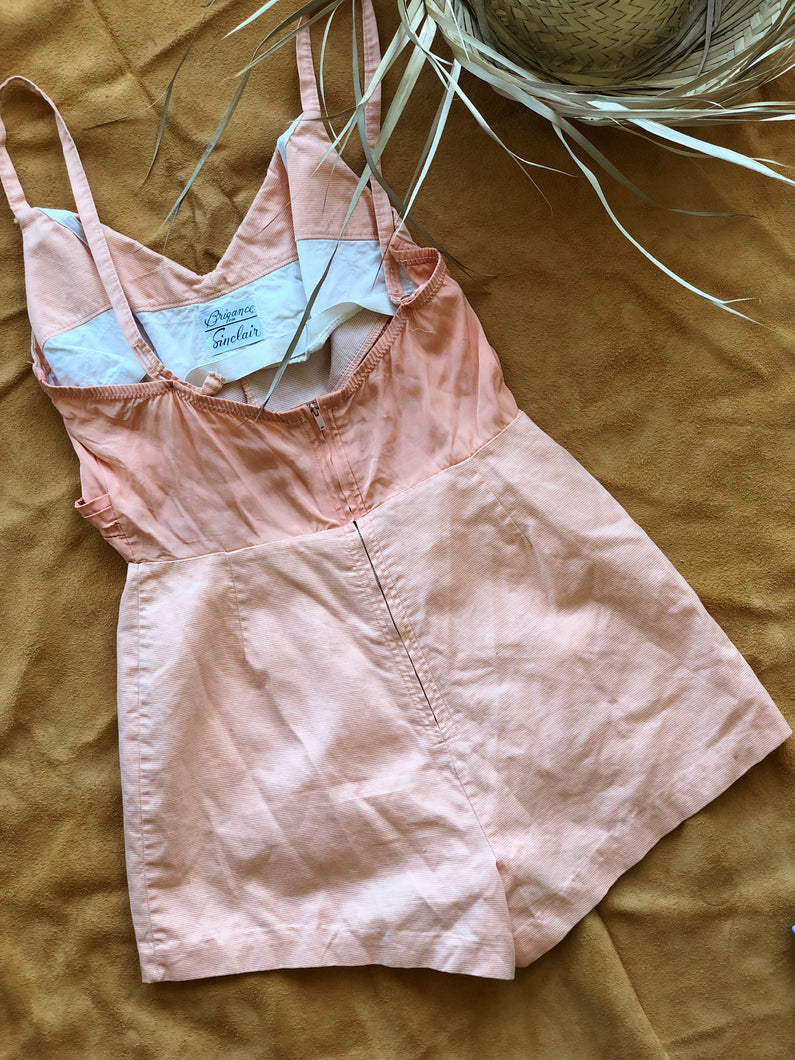 60's Peachy playsuit