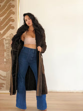 70s Suede + leather winter coat