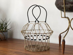 Mid Century wire 'egg' basket