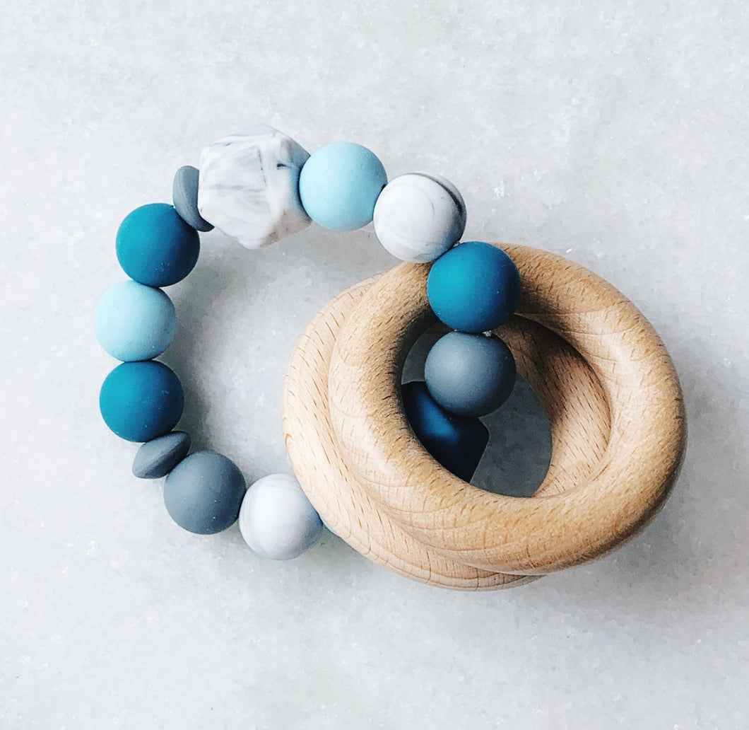 Teething Rattle - Blue