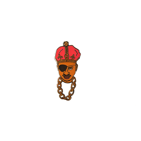 Slick Rick Face Pin