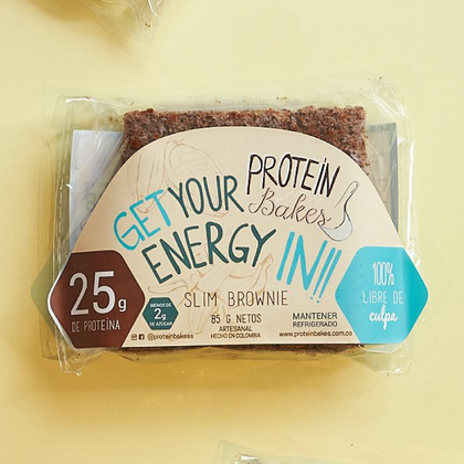Slim Brownie empaque Protein Bakes - AloSimple