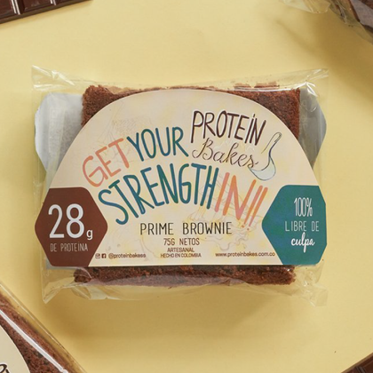 Prime Brownie empaque Protein Bakes - AloSimple
