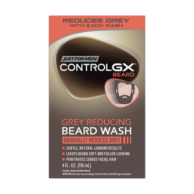 Just for Men Control GX - Lavado de Barba con Reductor gris para canas.