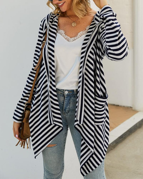 Animal Park Zebra Print Hooded Cardigan oh!My Lady