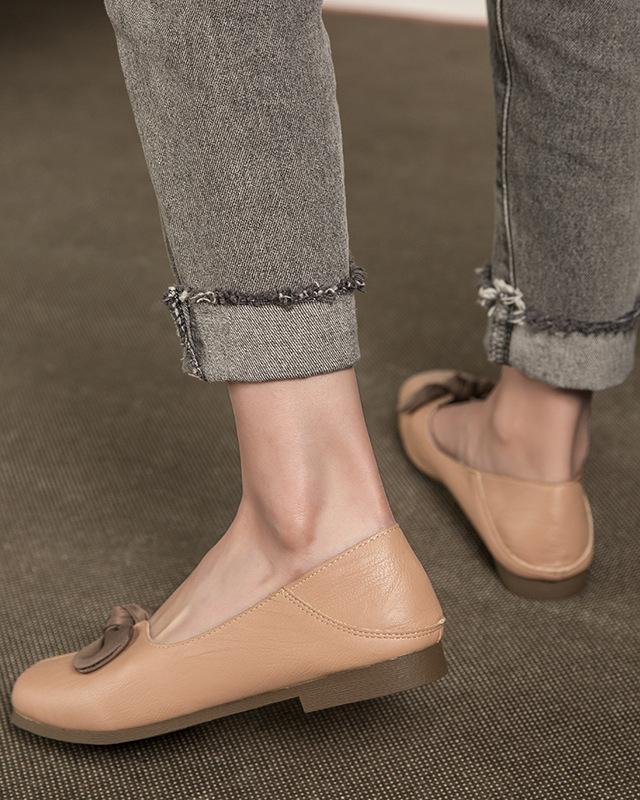 Bow Tie Round Beanie Shoes - Light Pink Oh!My Shoes