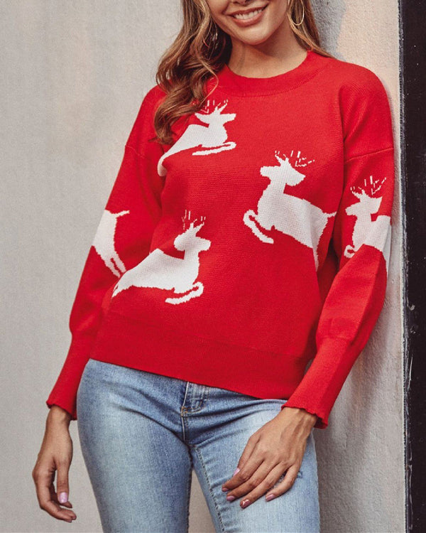 Christmas Element Crew Neck Sweater oh!My Lady