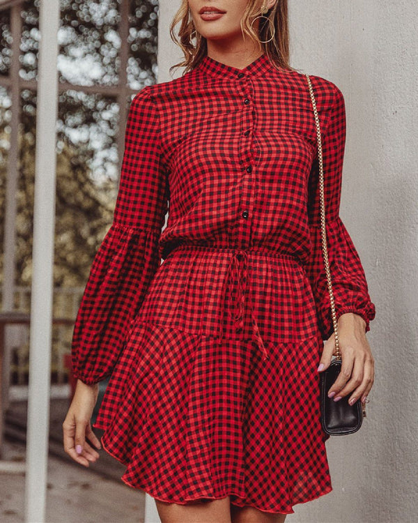 Christmas Red Plaid Dress oh!My Lady
