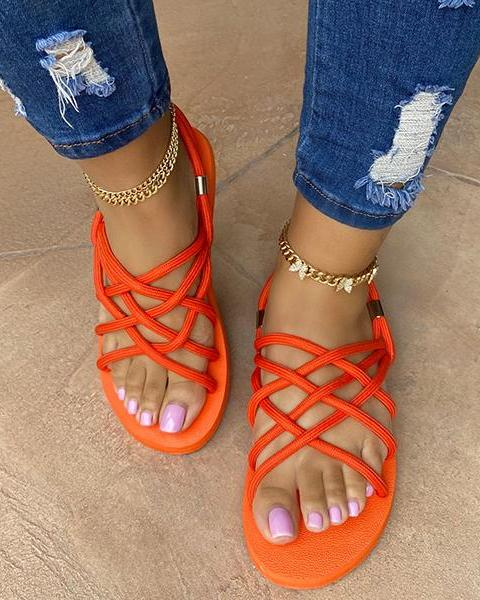 Flat Shoes Hemp Rope Sandals Sandals oh!My Lady