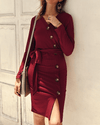 Forever Your Girl Knit Dress - Red oh!My Lady