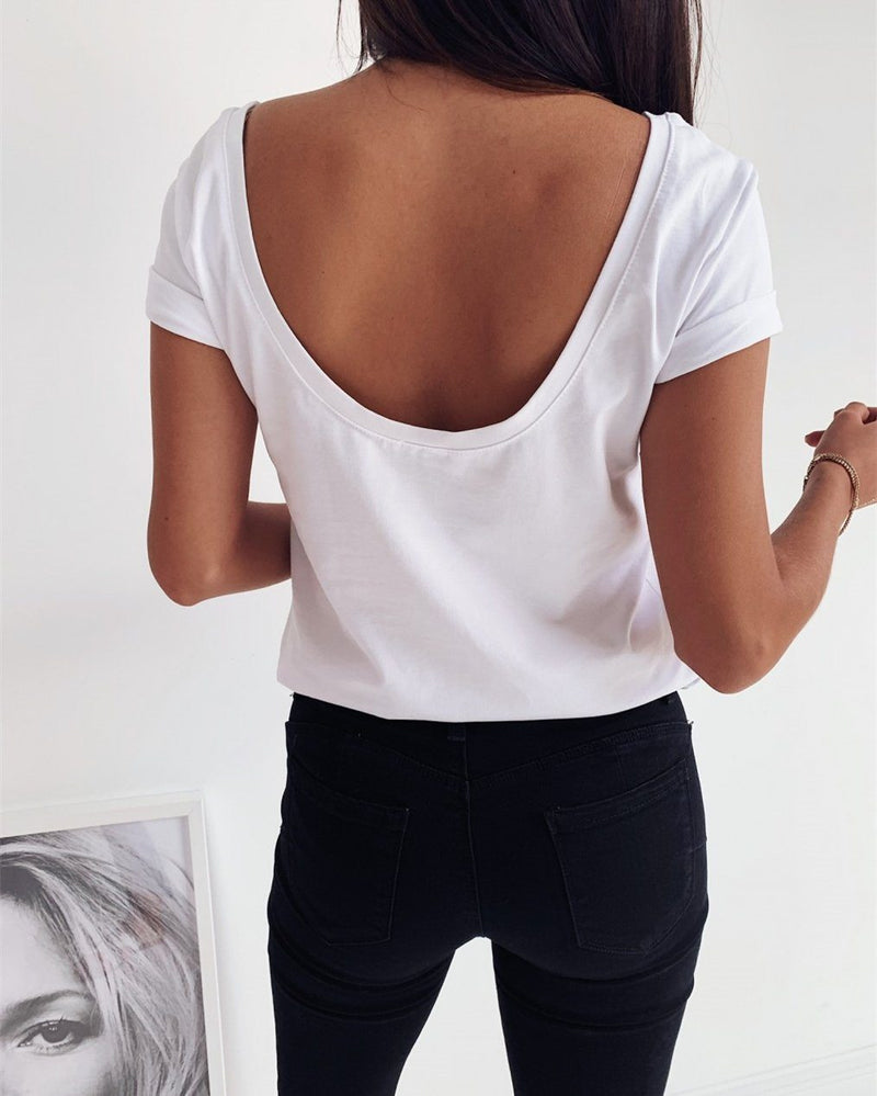 Gotta Have It Washed Crop Top - White ss-tops oh!My Lady