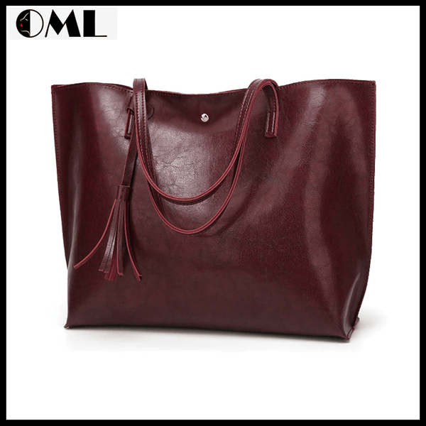 Women Casual Tote Pu Leather Handbag