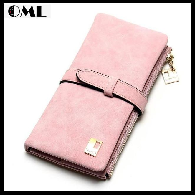New Fashion Drawstring Nubuck Leather Zipper Clutch