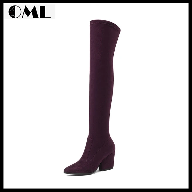 Winter Sexy Over The Knee High Boots Heels - oh!My Lady