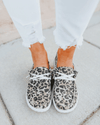 Jazz Canvas Leopard Boat Shoes oh!My Lady