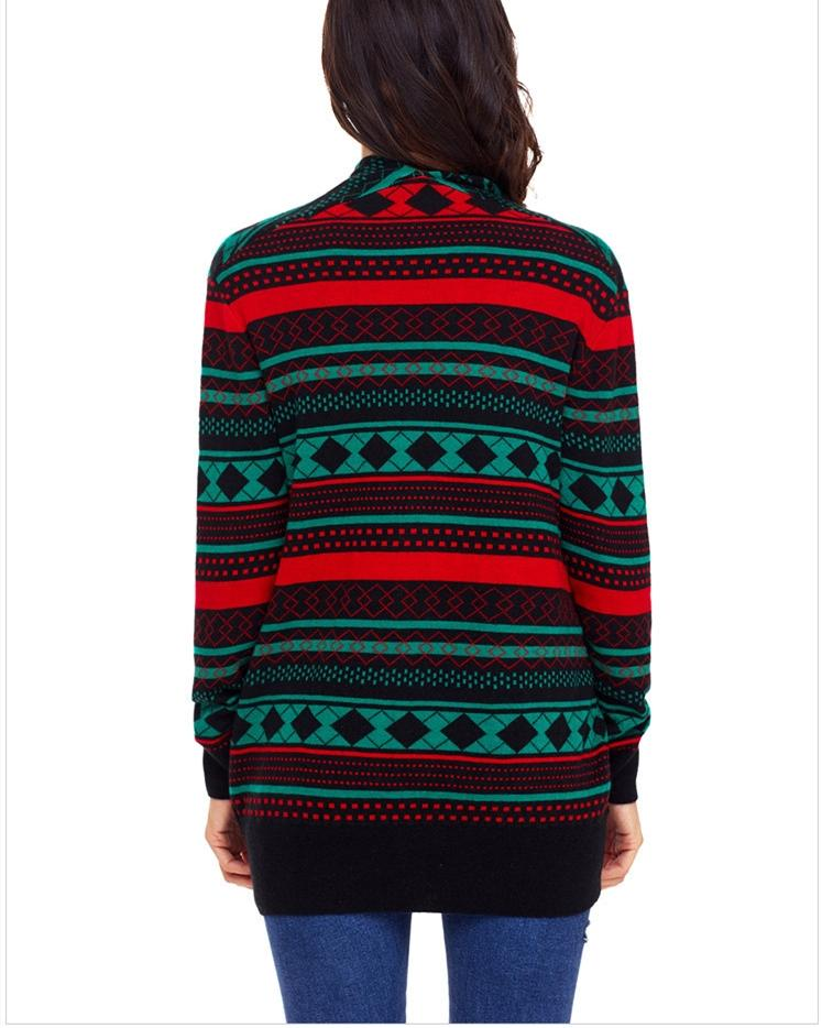 Knitted Loose Christmas Sweater - Green oh!My Lady