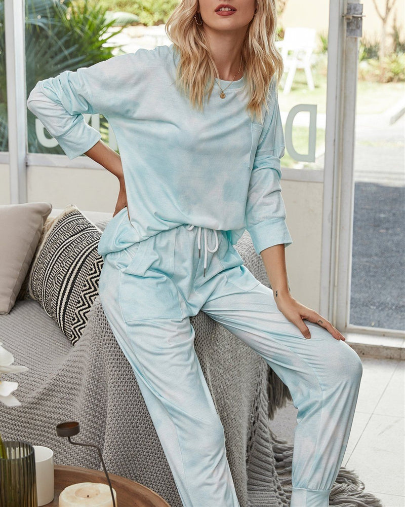Light and Bright Cozy Pajama Suit - Fill Green oh!My Lady