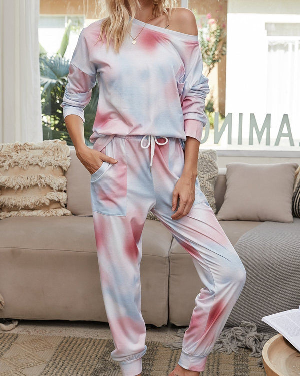 Light and Bright Cozy Pajama Suit - Pink Mark oh!My Lady