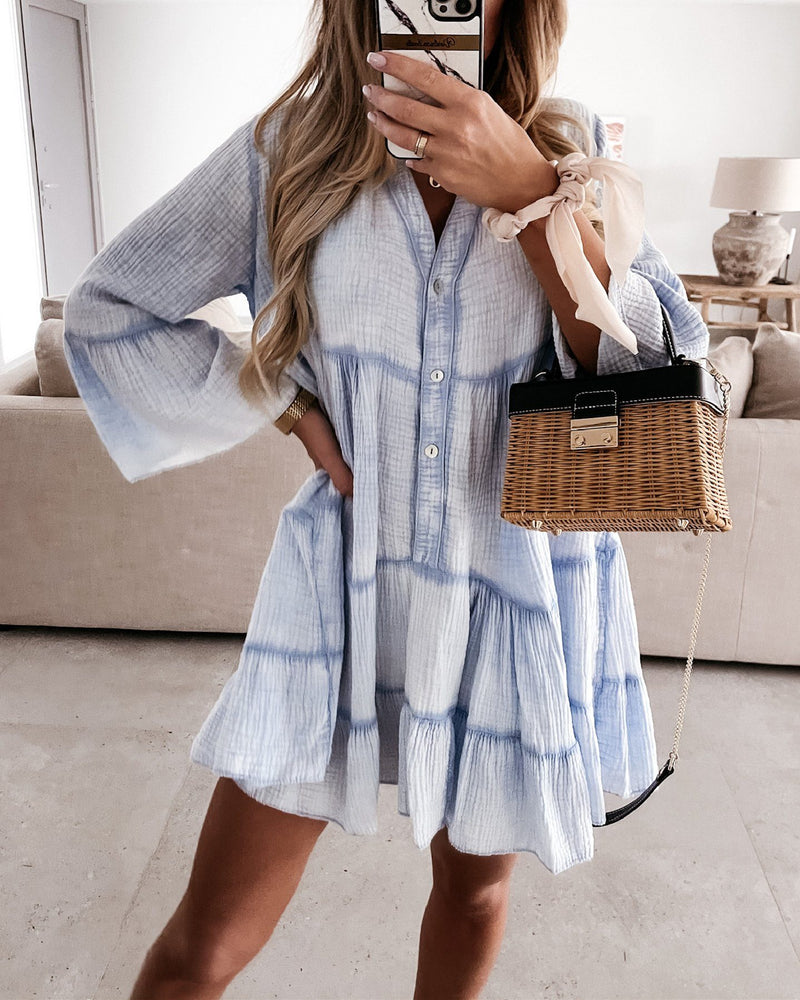 Magic In The Summer Oversize Dress - Blue oh!My Lady
