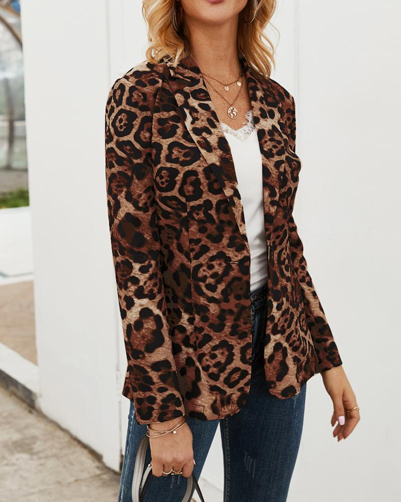 Make It True Leopard Print Coat oh!My Lady