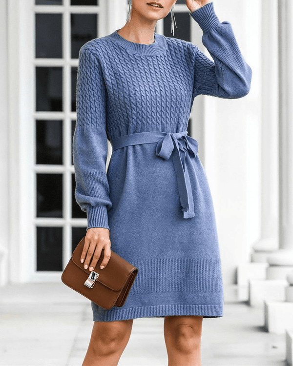 Miss Lady Lantern Sleeve Sweater Dress oh!My Lady
